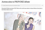 Actress aims to PROVOKE debate