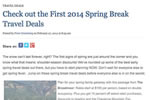 Check out the First 2014 Spring Break Travel Deals