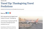 Travel Tip: Thanksgiving Travel Predictions
