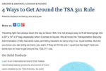 4 Ways to Get Around the TSA 311 Rule